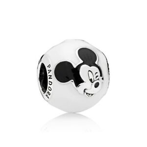 Genuine Pandora Charm Silver DISNEY Expressive Mickey Mixed Enamel 796339ENMX