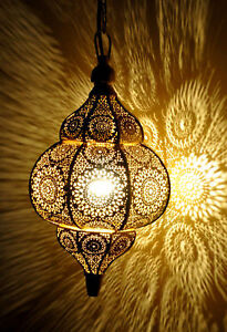 Modern Turkish Hanging Lamps Golden Moroccan Ceiling Lights Home Lantern Gifts