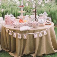 Party Wedding Decor Sign Candy Bar Kraft Paper Bunting Banner Garland Cardboard