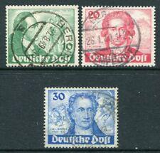 GERMANY BERLIN 1949 GOETHE Used Set 3 Stamps cat EURO 250