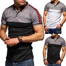 BEHYPE Herren Poloshirt Slim Fit Hemd Kurzarm T-Shirt Schwarz/Weiß Kariert NEU
