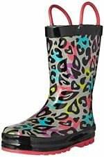 Western Chief Girls Printed Rain Boot, Groovy Leopard, 10 M US Toddler