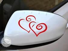 Heart Car Sticker Wing Mirror Vinyl Graphic Decal, Girly Bumper Sticker