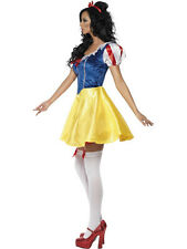 Snow White Adult Costume Princess Dress for Halloween Cosplay Party (One Size)