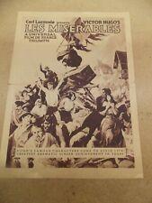 LES MISERABLES(1925)DIR:HENRI FRESCOURT RELEASED BY UNIVERSAL ORIGINAL HERALD