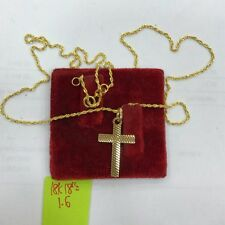 Gold Authentic 18k saudi gold cross necklace,,