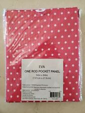 "New Eva One Rod Pink and White Polka Dot Panel Curtain 54' x 84"" (One Panel)"
