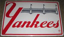 New York Yankees Baseball Metal Sign