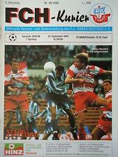 Programm 1995/96 FC Hansa Rostock - FC St. Pauli
