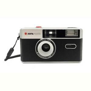AgfaPhoto | analoge Kleinbildkamera 35 mm schwarz | mit Fixfocus Objektiv