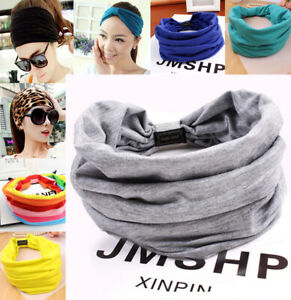 Women Headband Ladies Hairband Hair Wrap Elastic Cotton Wide Sport Yoga Stretch
