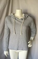 O'Neill 100% Cotton Blue/White Striped Hooded Pullover Sweatshirt XS