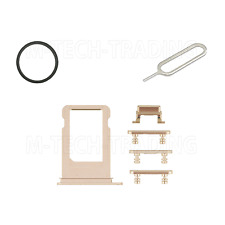 ORIGINAL GOLD POWER VOLUME BUTTON SET & SIM TRAY SIM PIN & GASKET FOR IPHONE 7+
