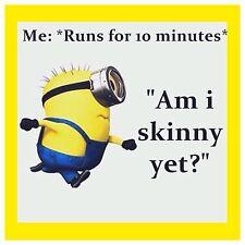 "4""x4"" Flexible Fridge Magnet Funny Minion Meme Am I Skinny Yet"