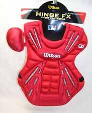 WILSON BASEBALL CHEST PROTECTOR SCARLET RED HINGE FX PRO EDITION A3310 MED 16""