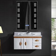 700x500mm 60 LED Illuminated Mirror Bathroom Demister Shaver Socket Sensor Clock