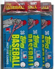 ( 3 )  1981  TOPPS  BASEBALL   36  CARD  GROCERY  RACK  PACKS