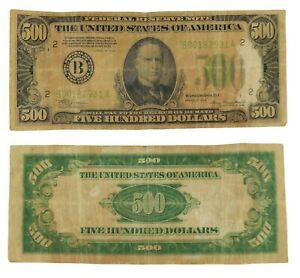 Series 1934 $500 Bank of New York Federal Reserve Note