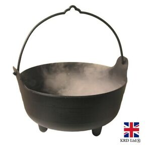 """9"""" Black Plastic WITCHES COULDRON Halloween Party Decorations Prop Home Decor UK"""