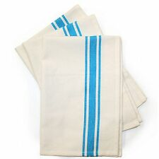 Aunt Martha's Retro Bold Stripe Turquoise Kitchen Dish Tea Towels Set of 3