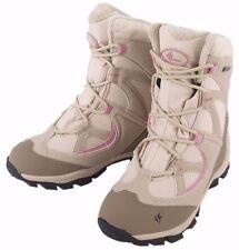 NEW SKI WOMENS GIRLS WATERPROOF BEIGE FLEECE WINTER WARM SNOW BOOTS SHOES SIZE 7