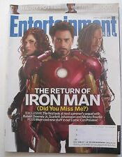 "ROBERT DOWNEY SCARLETT JOHANSSON ""IRON MAN"" July 24, 2009 ENTERTAINMENT WEEKLY"