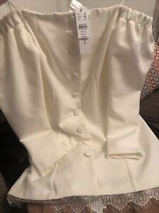 Top Shop Off White Blazer Dress  Uk 8 RRP £49.00