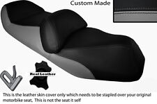 Gris Y Negro Custom encaja Honda fjs 600 Silverwing Doble Cuero Funda De Asiento