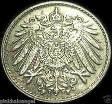 Germany -German Empire - German 1920F 5 Pfennig Coin - World War 1 - GREAT COIN