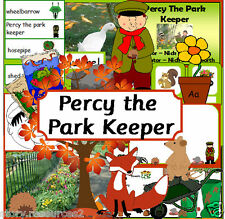 PERCY THE PARK KEEPER Autumn teaching story resource sack KS1 EYFS resources cd