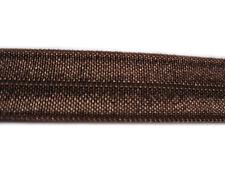 2 YARD BROWN FOLDOVER ELASTIC SIZE 5/8 PERFECT FOR HEADBANDS FOE
