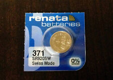 FREE SHIPPING EXPIRE 6/2019 1 ONE Renata 371 D370 SR920 Watch Battery USA Seller