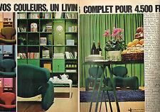 PUBLICITE ADVERTISING 1966   ROCHE BOBOIS  meubles  living ( 2 pages)