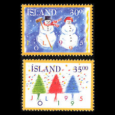 Iceland 1995 - Christmas Stamps - Sc 811/2 MNH