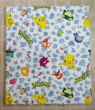 Vtg 1998 POKEMON Rare Design FLEECE BLANKET Nintendo Video Game Cartoon 90s Bed