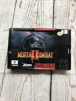 Mortal Kombat II (Super Nintendo Entertainment System, 1994)(Box Only) No Game