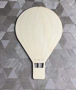 **NEW** single laser cut wooden pretty hot air balloon - large 28cm wall decor