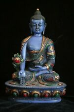 Medicine Buddha statue resin 8 inch in resin