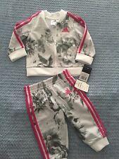 Adidas Baby Girl 6m Zip Up Jacket & Joggers NEW