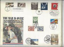 Multi-NATIONAL TIMBRO PRIMO GIORNO DI COPERTURA la guerra è finita 60th Anniversario Seconda Guerra Mondiale 1995