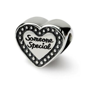 Someone Special Bead .925 Sterling Silver Antique Finish Reflection Beads