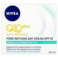 2 x Nivea Q10 Anti-arrugas refinación de poros Day Cream - 50 ml cada uno