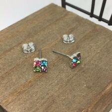 High Quality Crystals Titanium Post Stud Earrings Made in Korea US Seller