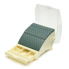 Dental Bur Block / Holder / Station with Pull out Drawer - Holds 142 Burs FG/RA