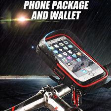Waterproof Holder Motorcycle Bike Handlebar Mount Clamp GPS Phone Bag Case Pouch