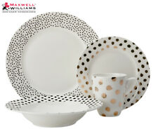 Maxwell & Williams Tresor Rim Dinner Set 16pc Dots ( )