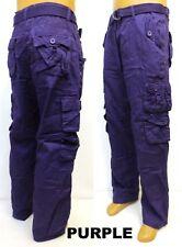 Men's PJ MARK cargo pants brown black olive khaki yellow orange grey blue 41359