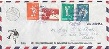 Netherlands Antilles FDC 1957 Football Soccer RARE ! cachet