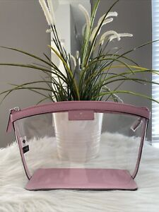 New Kate Spade sabine medium cosmetic pouch/ case Pink Bright Carnation Gift