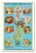 The Life of Our Lord and Savior Jesus Christ - 8in x 12in Vintage Metal Sign